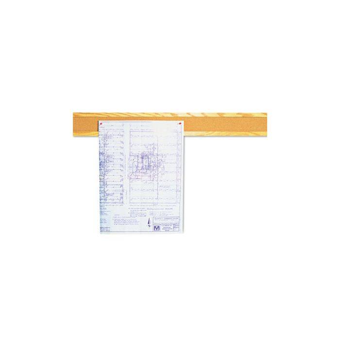 Quartet® Cork Bulletin Board Border, Natural Cork, 48 x 5, Oak Frame