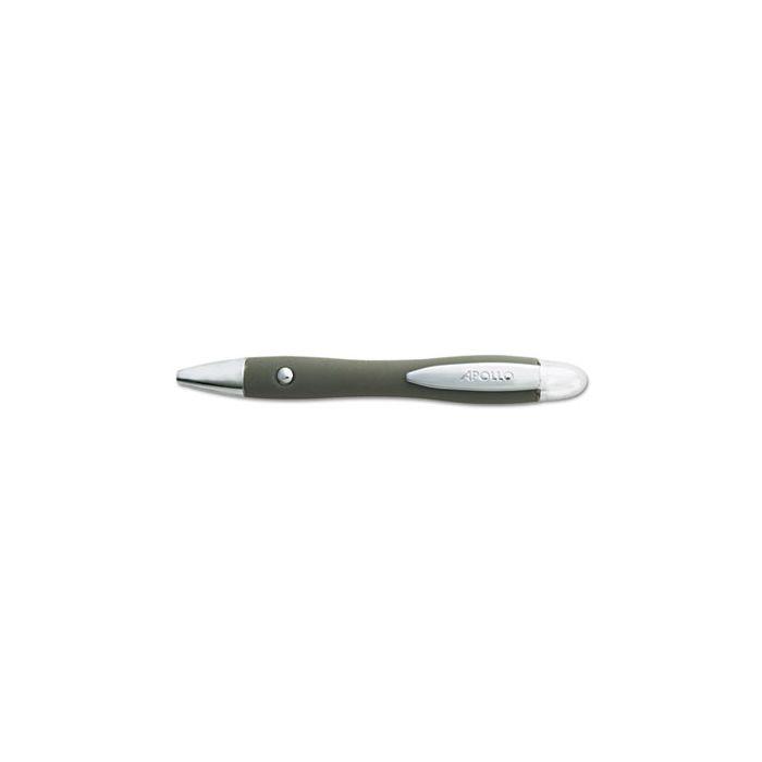 Quartet® Contour Comfort Laser Pointer, Class 3A, Projects 1148 ft, Graphite Gray