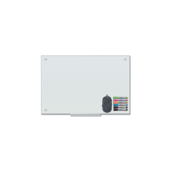 U brands Magnetic Glass Dry Erase Board Value Pack, 36 x 24, White