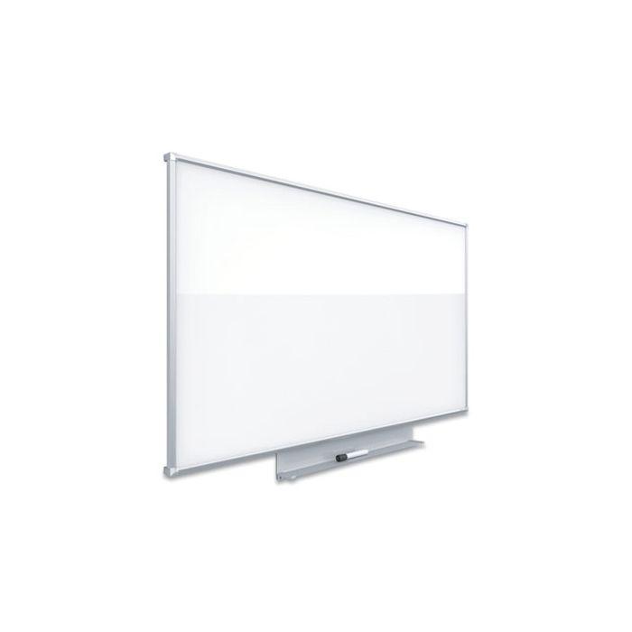 Quartet® Silhouette Total Erase Whiteboard, 74 x 42, Silver Aluminum Frame